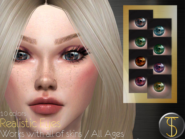 Sims 4 Realistic Eyes 01 by turksimmer at TSR