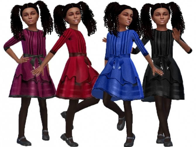 Sims 4 Winter formal dress at Trudie55
