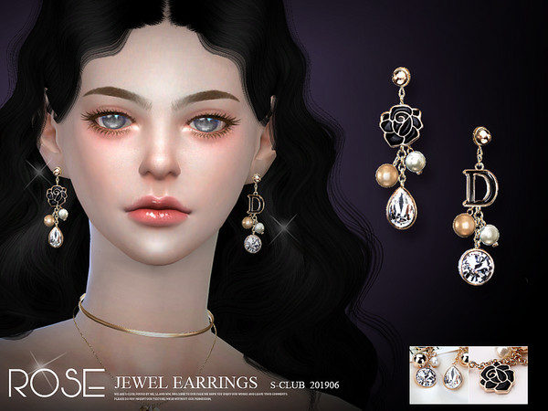 Sims 4 EARRINGS 201906 by S Club LL at TSR