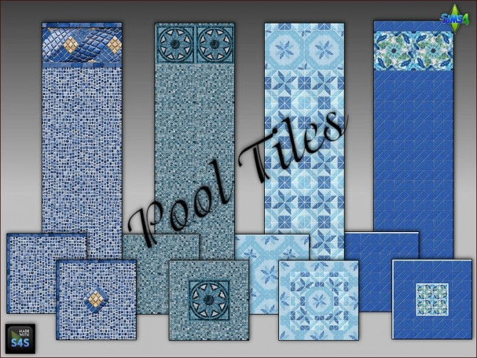Pool tiles for walls and floors by Mabra at Arte Della Vita image 4913 670x503 Sims 4 Updates