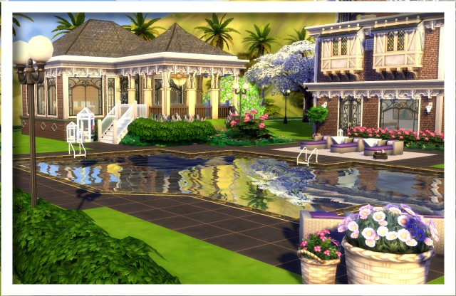 Sims 4 Luxury Home by Oldbox at All 4 Sims