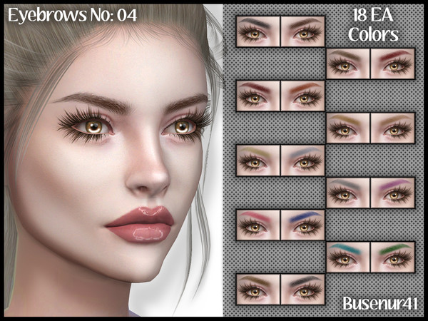Eyebrows N04 by busenur41 at TSR image 5100 Sims 4 Updates