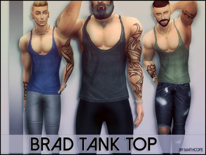 Sims 4 Brad tank top by Mathcope at Sims 4 Studio