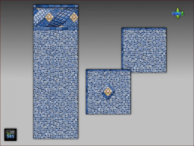 Pool tiles for walls and floors by Mabra at Arte Della Vita image 5214 670x503 Sims 4 Updates