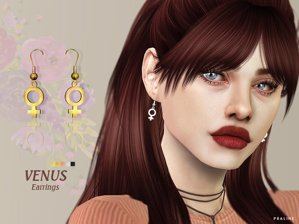 Sims 4 Venus Earrings by Pralinesims at TSR