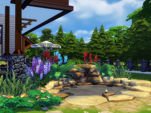 Sims 4 HASANA traditional house by marychabb at TSR