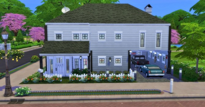 Sims 4 Two story home by heikeg at Mod The Sims
