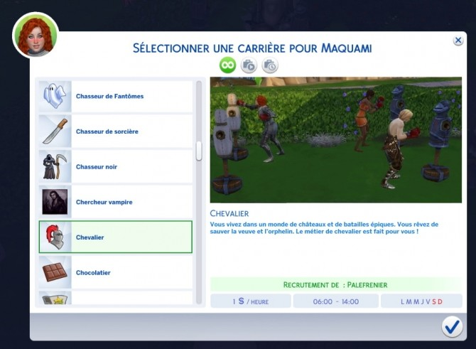 Sims 4 Knight career by vickyvoorhees at Mod The Sims