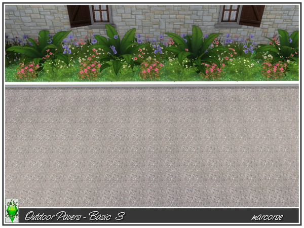 Outdoor Pavers Basic by marcorse at TSR image 550 Sims 4 Updates