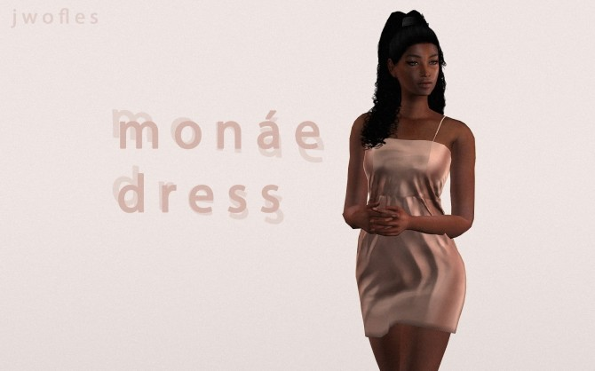 Sims 4 Monae dress by jwofles at Mod The Sims