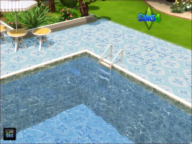 Pool tiles for walls and floors by Mabra at Arte Della Vita image 5512 670x503 Sims 4 Updates