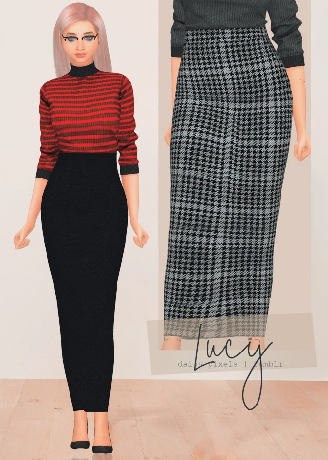 Lucy Skirt at Daisy Pixels image 5516 670x937 Sims 4 Updates