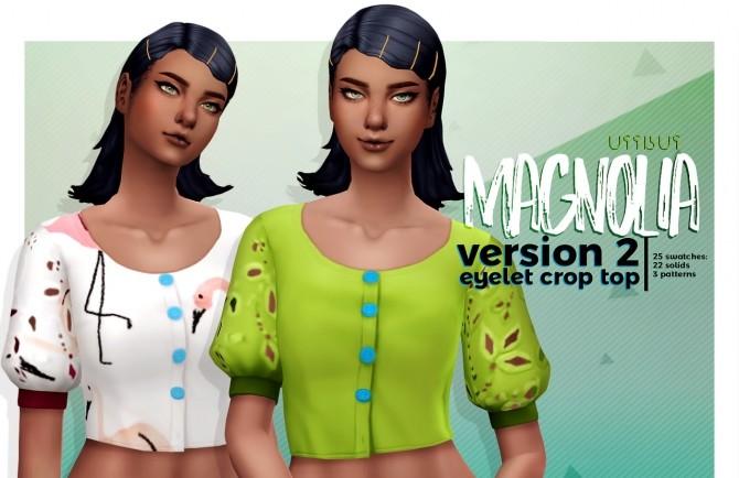 MAGNOLIA V2 cropped eyelet top at Viiavi image 5571 670x434 Sims 4 Updates