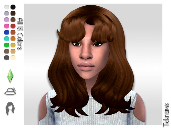 Rosario Thick Mid Length Hair By Tekrisims At Tsr Sims 4 Updates