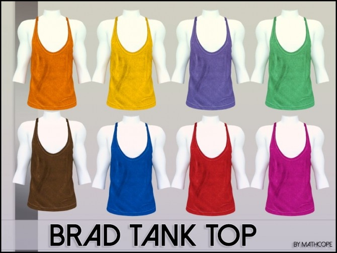 Brad tank top by Mathcope at Sims 4 Studio image 5610 670x503 Sims 4 Updates