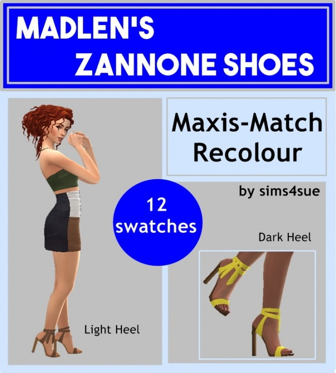 Sims 4 MADLEN'S ZANNONE SHOES RECOLOUR at Sims4Sue