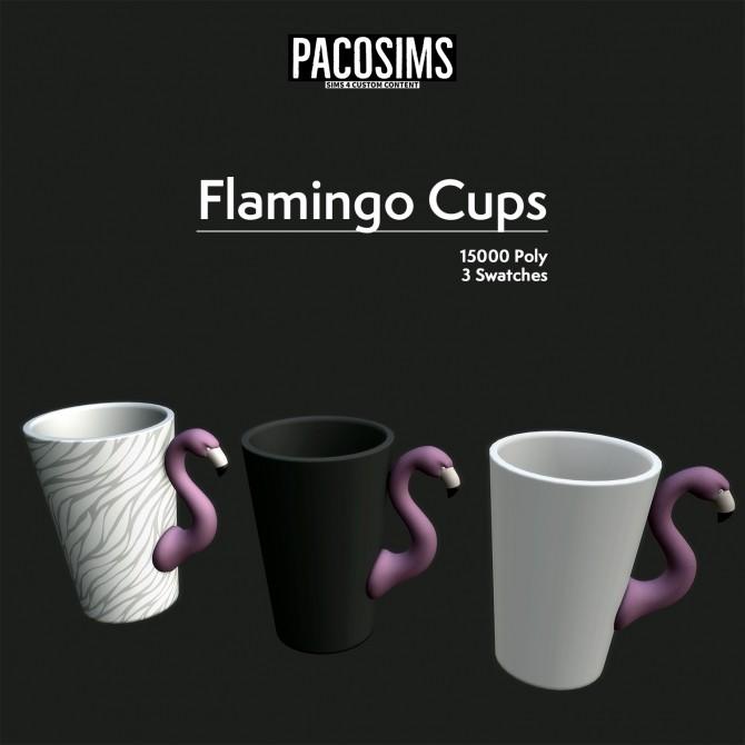 Sims 4 Flamingo Cups (P) at Paco Sims