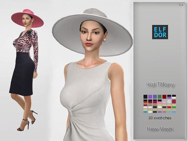 Sims 4 Hat Tiffany at Elfdor Sims