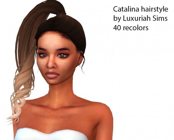 Catalina hairstyle (P) at Luxuriah Sims image 599 670x540 Sims 4 Updates