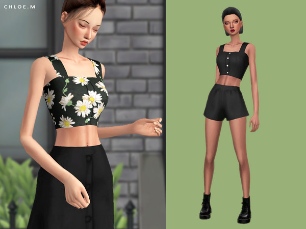 Crop Top by ChloeMMM at TSR image 6015 Sims 4 Updates