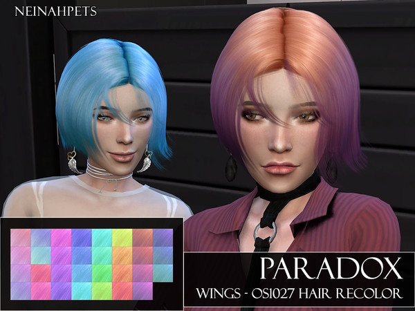 Paradox WINGS OS1027 Hair Recolor by neinahpets at TSR image 612 Sims 4 Updates