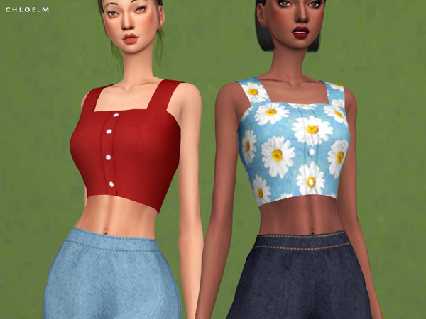 Crop Top by ChloeMMM at TSR image 6120 Sims 4 Updates