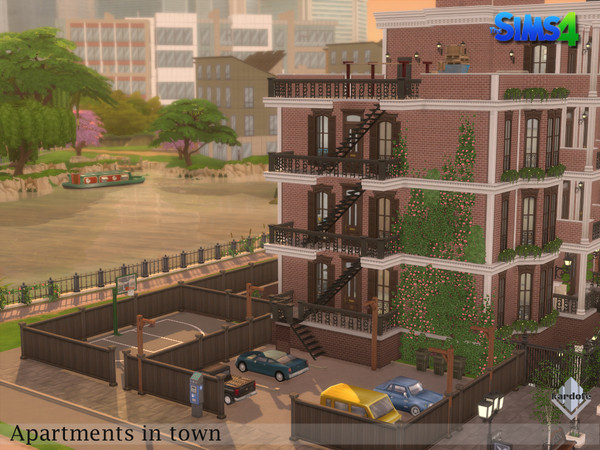 Sims 4 Apartments in town by kardofe at TSR