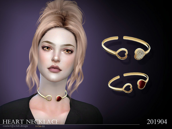 Necklace 201904 by S Club LL at TSR image 62 Sims 4 Updates