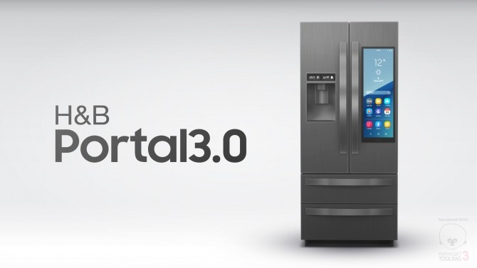 Sims 4 H&B Portal 3.0 Expensive Refrigerator by littledica at Mod The Sims