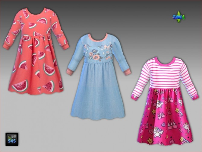 Sims 4 Dresses and high socks for toddler girls by Mabra at Arte Della Vita