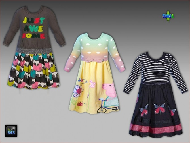 Dresses and high socks for toddler girls by Mabra at Arte Della Vita image 6415 670x503 Sims 4 Updates