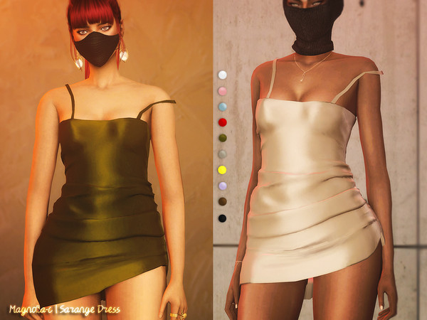Sims 4 Sarange Dress by magnolia c at TSR