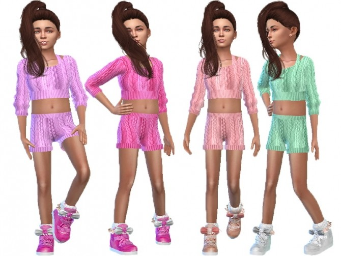 Sims 4 Knitted short suit at Trudie55