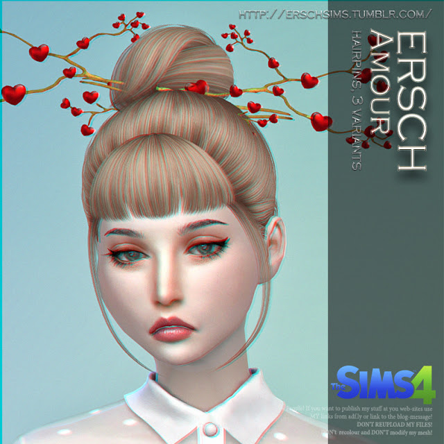 Sims 4 Amour Hairpins at ErSch Sims