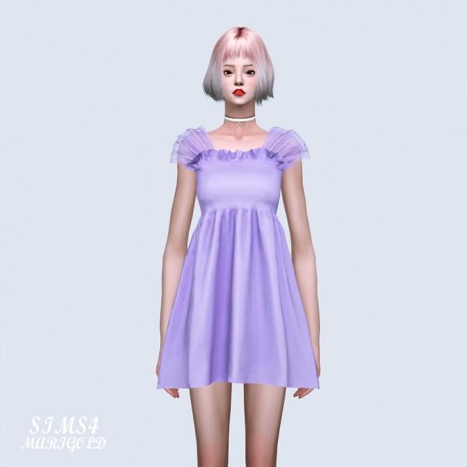 Shoulder Mesh Mini Dress (P) at Marigold image 6512 670x670 Sims 4 Updates