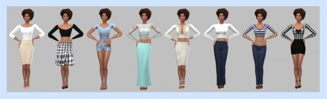 EP02 SLEEVED CROP TOP at Sims4Sue image 676 670x204 Sims 4 Updates