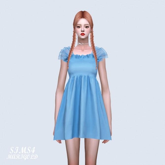 Shoulder Mesh Mini Dress (P) at Marigold image 679 670x670 Sims 4 Updates