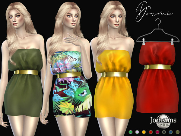 Sims 4 Doranie dress by jomsims at TSR