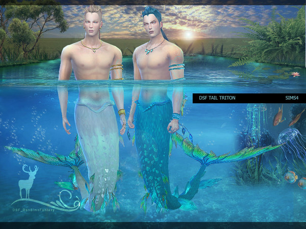 Sims 4 DSF TAIL TRITON by DanSimsFantasy at TSR