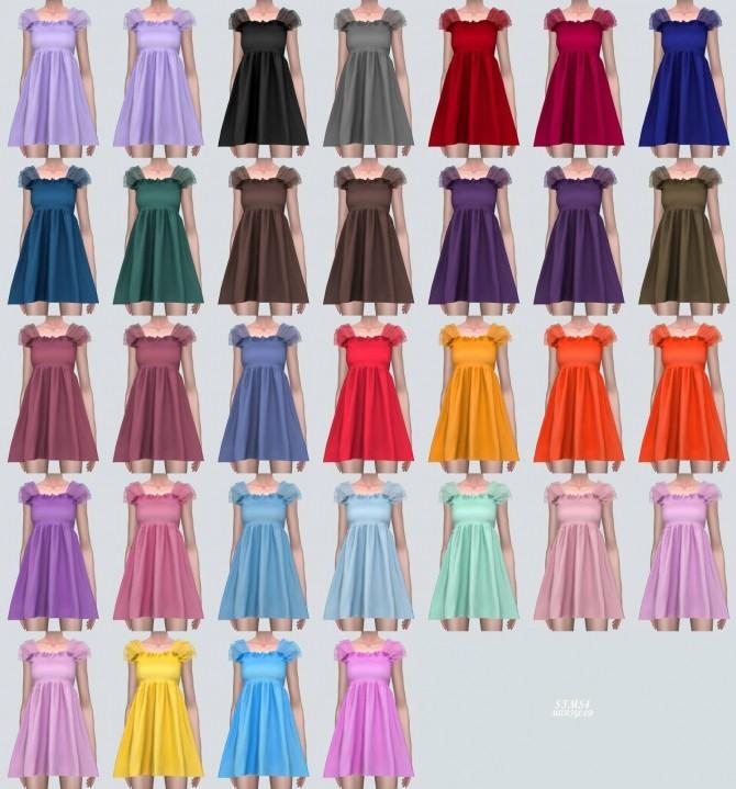 Shoulder Mesh Mini Dress (P) at Marigold image 68111 670x719 Sims 4 Updates