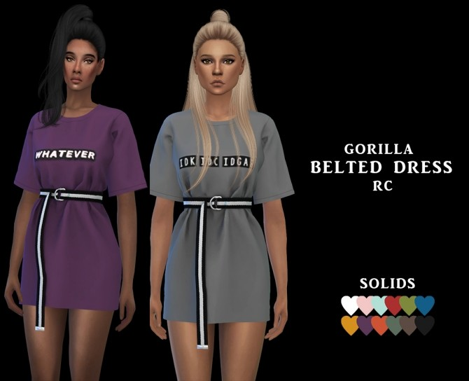 Belted Dress Rc at Leo Sims image 6912 670x544 Sims 4 Updates