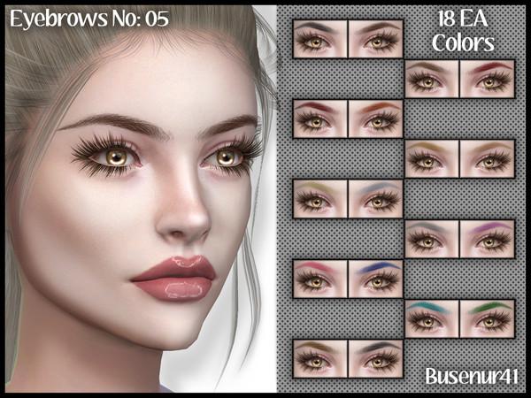 Sims 4 Eyebrows N05 by busenur41 at TSR