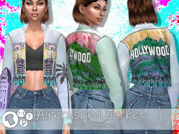 Sims 4 Air Brushed Jacket by JavaSims at TSR