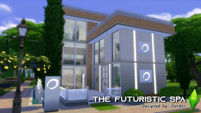 Sims 4 The futuristic spa by iSandor at Mod The Sims
