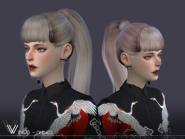Sims 4 WINGS ON0423 hair by wingssims at TSR