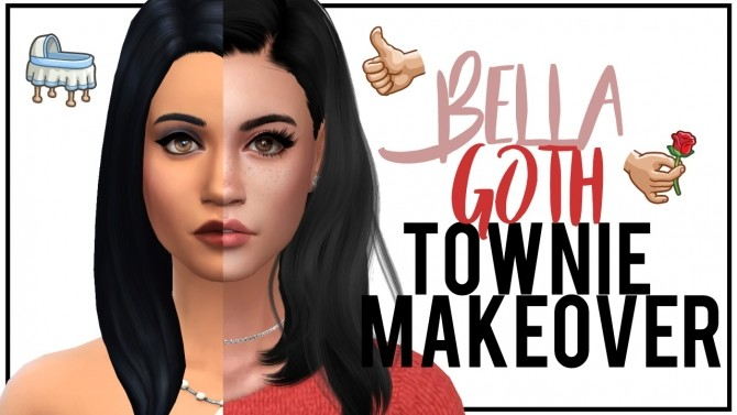 Sims 4 Townie Makeover Bella Goth at MODELSIMS4