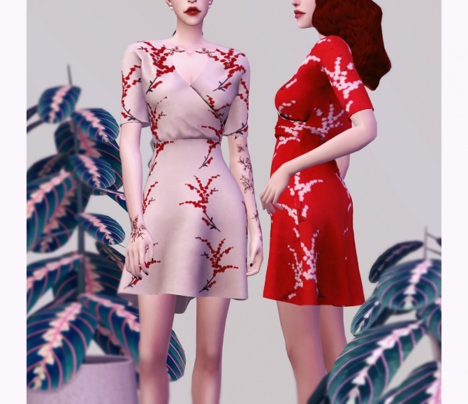 Sims 4 FM Lab onepiece dress at Bedisfull – iridescent