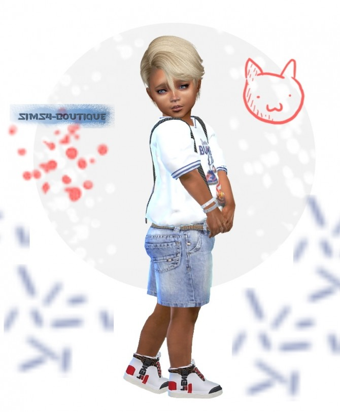 8f4515e85 ... Designer Set for Toddler Boys: shirt, shorts & sneakers at Sims4  Boutique image 7222 ...