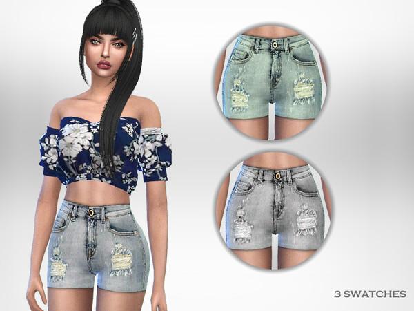 Sims 4 Lya Shorts by Puresim at TSR