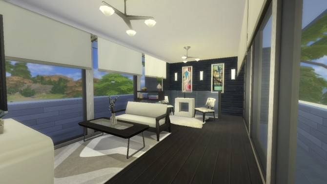 Sims 4 Minimalist home by Augustas at Mod The Sims
